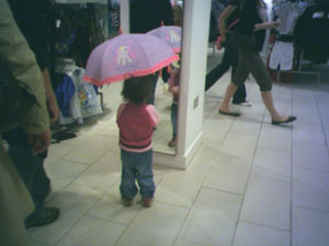 umbrella try-out